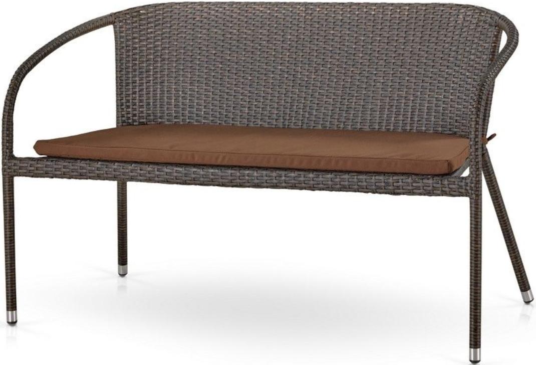 Диван Афина-Мебель S139A-W53 коричневый/бежевый