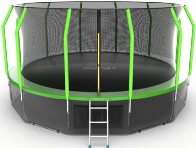 Батут Evo Jump Cosmo 16FT Green (с внутренней и нижней сеткой, лестницей)