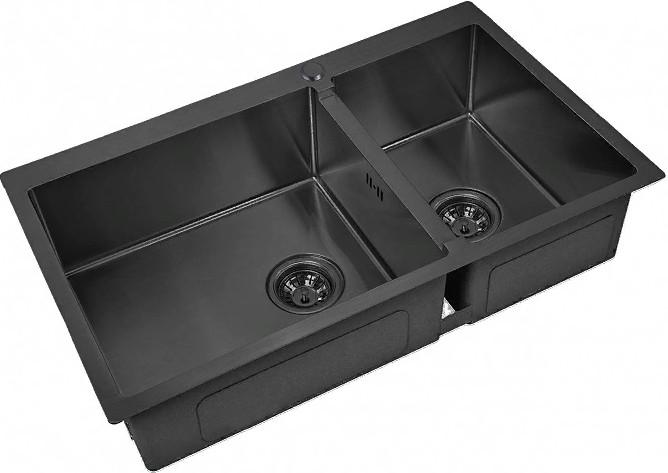 Кухонная мойка Zorg PVD 78-2-51-L Grafit