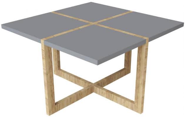 Журнальный столик Интердизайн Моби дуб/антрацит 480x800x800 см