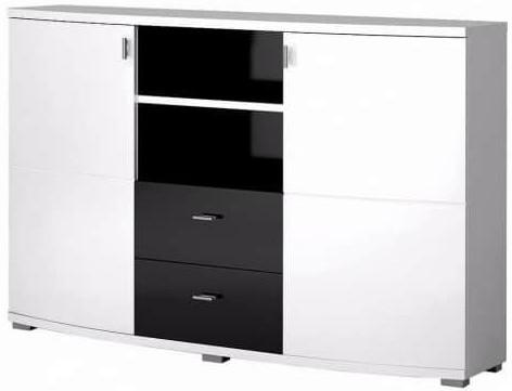 Комод Интердизайн Монако черный/белый 916x1402x370 см