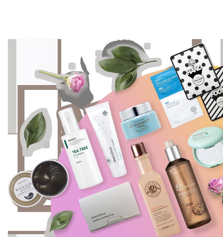 Набор косметики Cosmetic Box для ежедневного ухода за жирной кожей лица