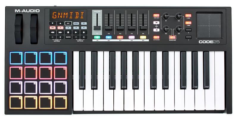 Миди-клавиатура M-Audio Code 25 Black