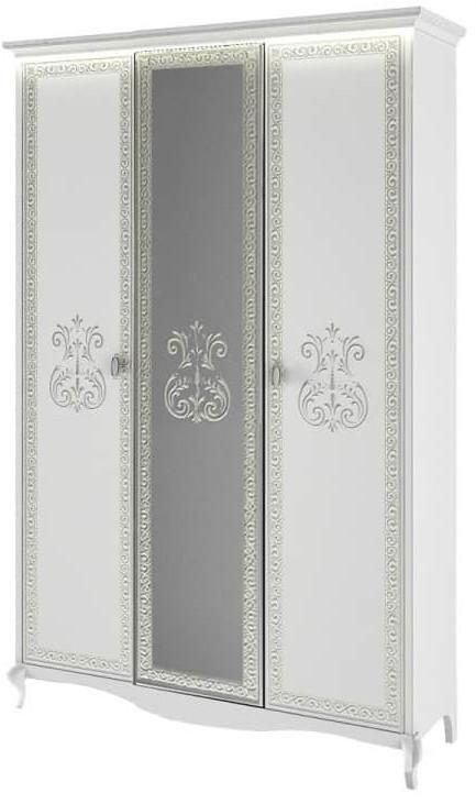Шкаф Интердизайн Винтаж белый/белый 2300x1475x639 см