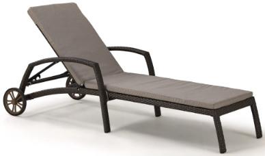 Шезлонг-лежак Афина-Мебель A35A2-W53 коричневый (матрас)