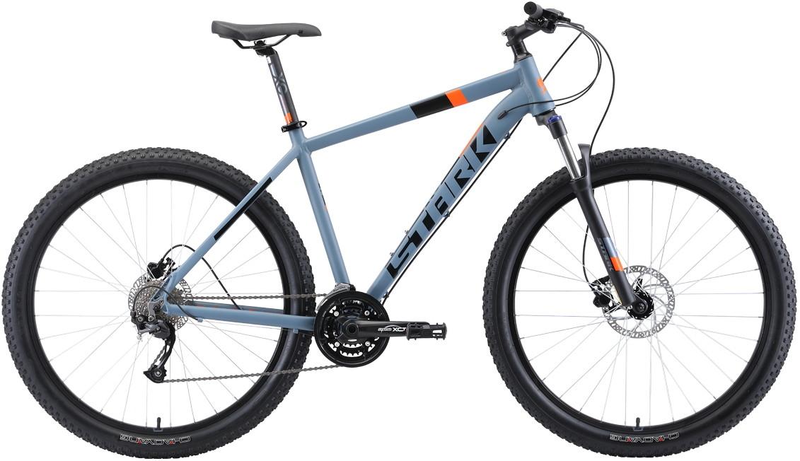 "Велосипед Stark Funriser 29.4+ HD (2019) серый/оранжевый 29""/18"""