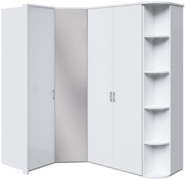 Шкаф Интердизайн Белла угловой белый глянец 221x211x60 см