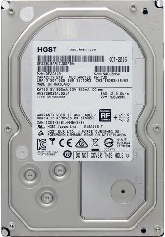 Серверный жесткий диск HGST 2Tb/HDD/SAS 3.0