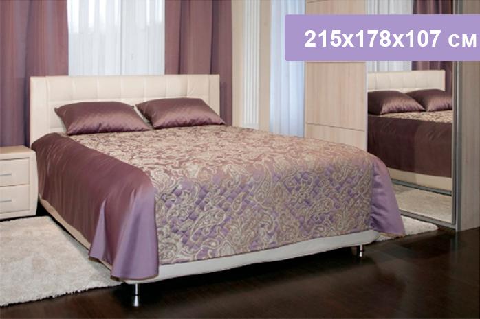 Двуспальная кровать Цвет Диванов Барроу Н белоснежный 215x178x107 см