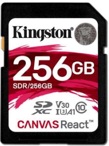 Карта памяти Kingston Canvas React SDXC 256Gb Class 10 UHS-I U3