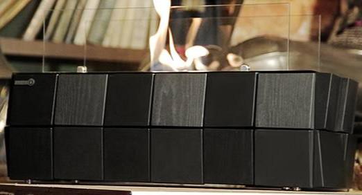 Биокамин Kronco Kvadro Floor черный (напольный)