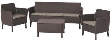 Комплект мебели Allibert Salemo коричневый/серый/бежевый
