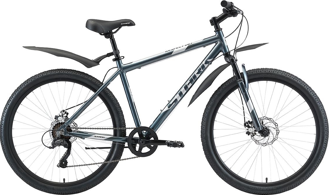 "Велосипед Stark Respect 26.1 D Microshift (2020) синий/серый 26""/18"""