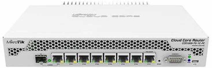 Маршрутизатор MikroTik Cloud Core CCR1009-7G-1C-1S+PC