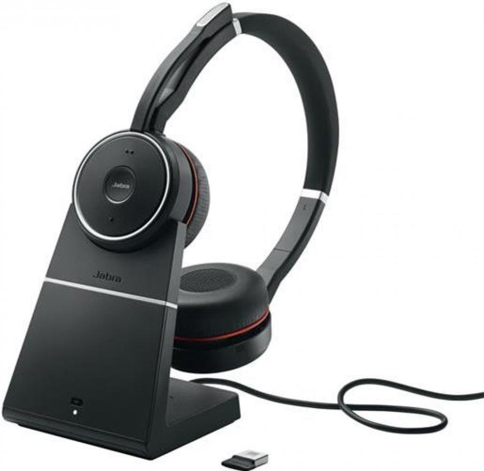 Гарнитура Jabra Evolve 75 Stereo UC Charging Stand