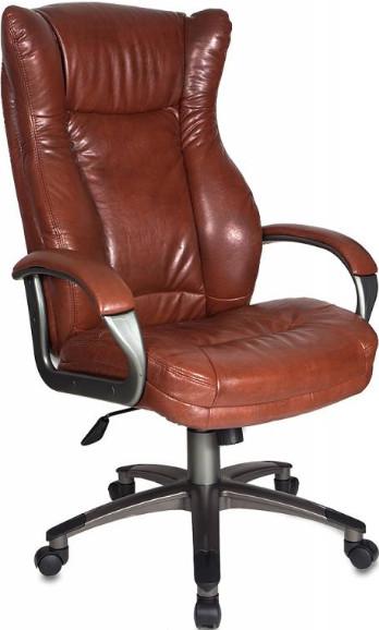 Кресло руководителя Бюрократ CH-879DG/BROWN коричневый