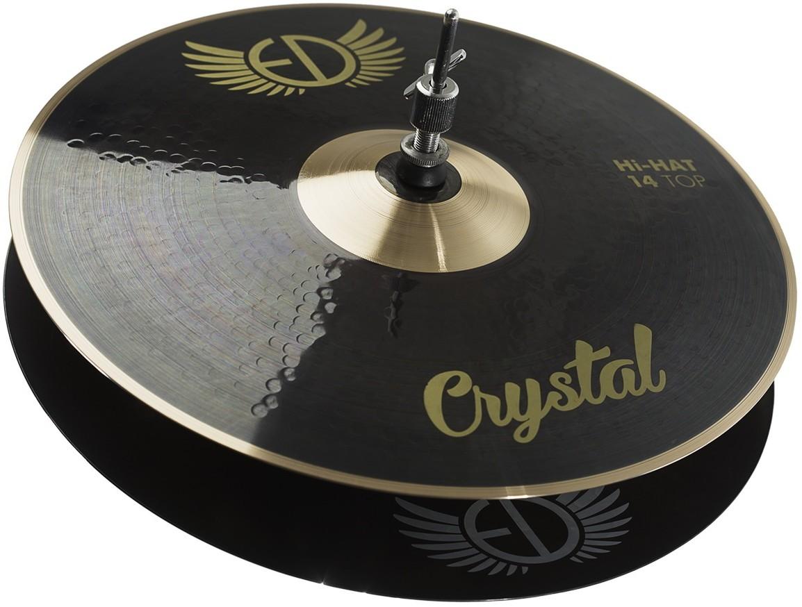 "EDCymbals Hi-Hat Crystal 14"""