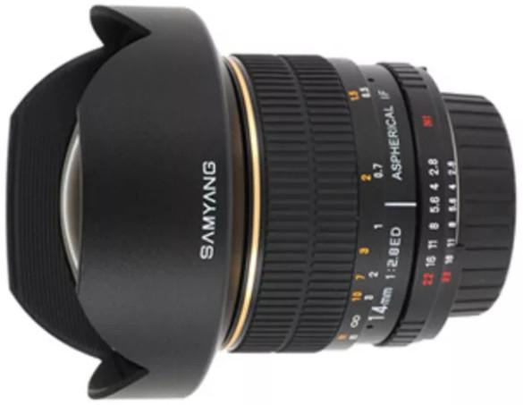Объектив Samyang MF 14mm f/2.8 ED AS IF UMC Canon EF Black