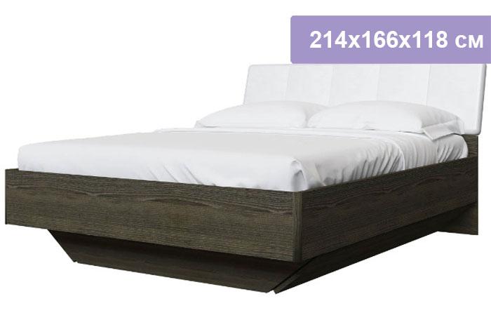 Двуспальная кровать Интердизайн Тоскано 32.04.0.AdW ясень темный/белый 214x166x118 см (ортопедическое основание)