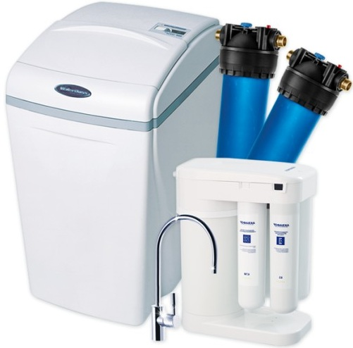 Комплект водоочистки Аквафор WaterBoss 700 + Гросс + Морион + соль