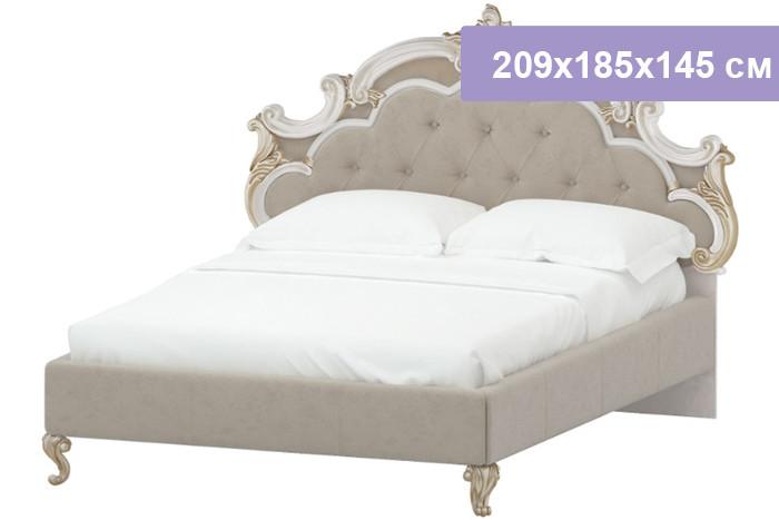 Двуспальная кровать Интердизайн Медея бежевый/бежевый 209x185x145 см