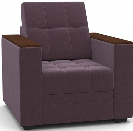 Кресло-кровать Цвет Диванов Атланта Next лиловый 108x90x94 см