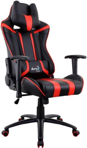 Игровое кресло Aerocool AC120 AIR-BR черный/красный