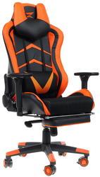 Игровое кресло ZET Force Armor 2000K оранжевый/черный