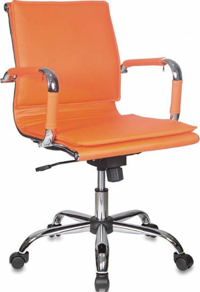 Кресло руководителя Бюрократ CH-993-LOW/ORANGE оранжевый