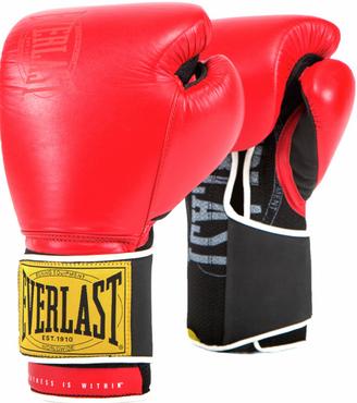Перчатки Everlast 1910 Classic 14oz Red (на липучке)
