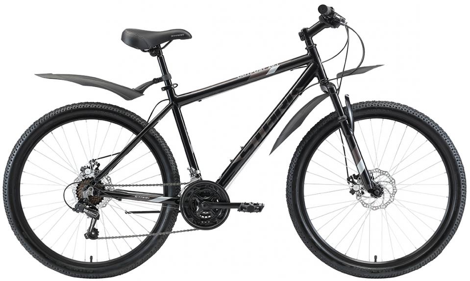 """Велосипед Stark Outpost 26.1 D (2020) черный/серый 26""""/16"""""""