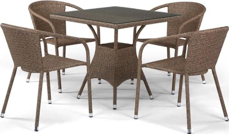 Комплект мебели Афина-Мебель T197BT/Y137C-W56 светло-коричневый
