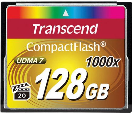 Карта памяти Transcend CompactFlash Ultra Speed 1000X 128Gb