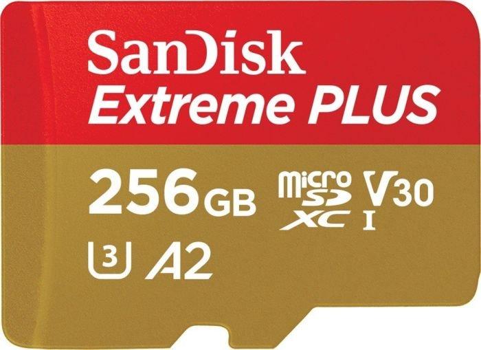 Карта памяти SanDisk Extreme Plus 256Gb microSDXC + адаптер