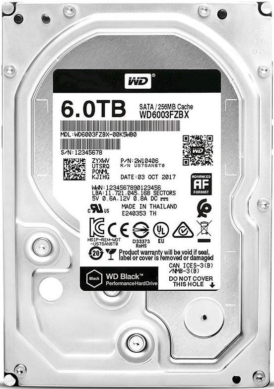 "Жесткий диск WD Black 6Tb/HDD/3.5"""