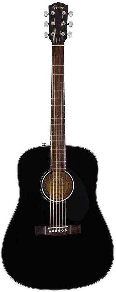 Акустическая гитара Fender CD-60S Black…