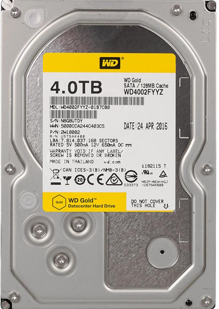 "Жесткий диск WD Gold 4Tb/HDD/3.5"""