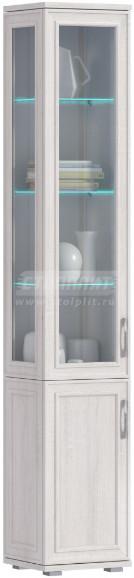 Витрина Столплит Флоренция 034-240-000-4963 дуб сонома белый 40x224x36 см (левая)