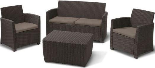 Комплект мебели Афина-Мебель AFM-2018A коричневый/капучино