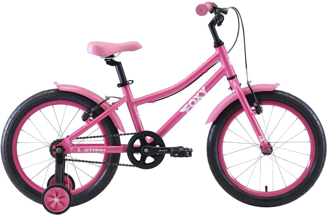"Велосипед Stark Foxy 18 Girl (2020) розовый/белый 16"""