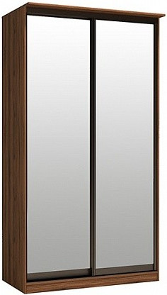 Шкаф-купе Цвет Диванов Тибр К-1 орех каннеро 125x44x234 см (двухдверный с зеркалом)
