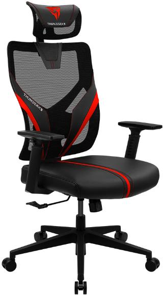 Игровое кресло ThunderX3 Yama1 черный/красный