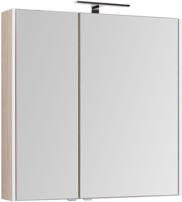Зеркало-шкаф Aquanet Августа 90 дуб сонома 90x90x16 см