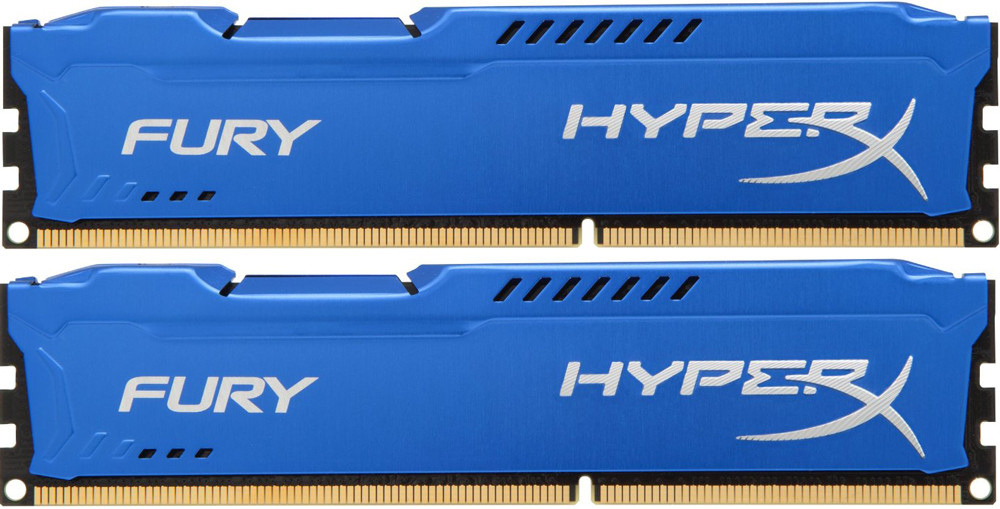 Память Kingston HyperX Fury DIMM DDR3 2x8Gb 1600MHz Blue
