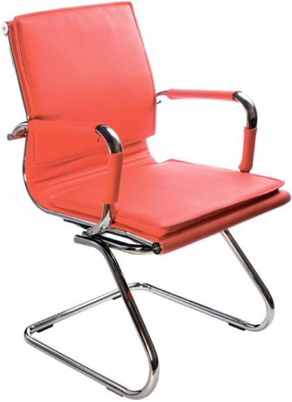 Кресло посетителя Бюрократ CH-993-LOW-V/RED красный