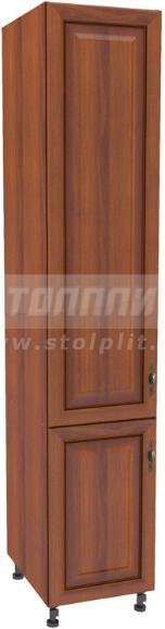 Пенал Столплит Регина 331-345-345-7049 орех мария луиза/вишня патина 45x237x56 см