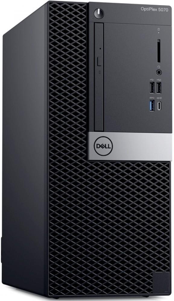 Компьютер Dell OptiPlex 5070 MT 3GHz/8Gb/256GbSSD/W10 Black