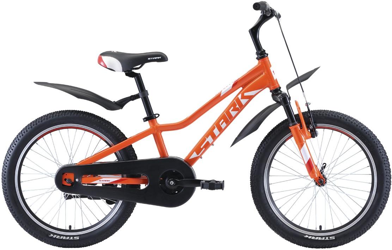 """Велосипед Stark Rocket 20.1 S (2020) оранжевый/белый/красный 20""""/-"""