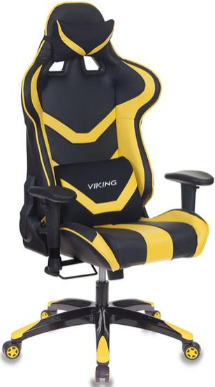 Игровое кресло Бюрократ CH-772N/BL+YELLOW черный/желтый