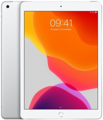 "Планшет Apple iPad 2019 10.2"" Wi-Fi + Cellular 128Gb Silver"